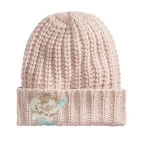 Free People Everything Rosy Embroidered Knit Hat
